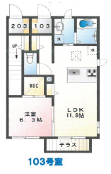 ペペロ・サトミーア103号室