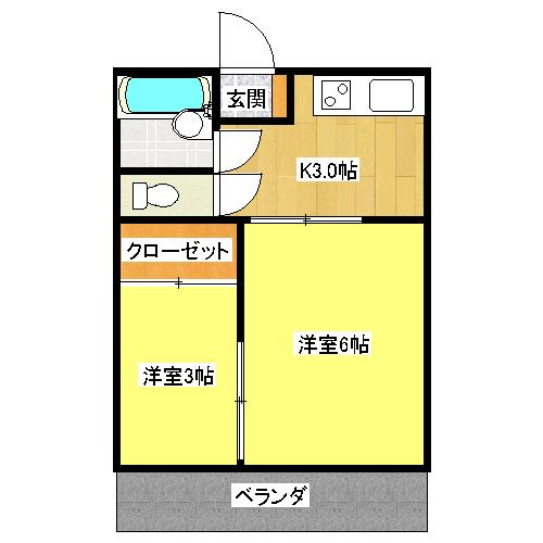 第1コーポマル光 203号室