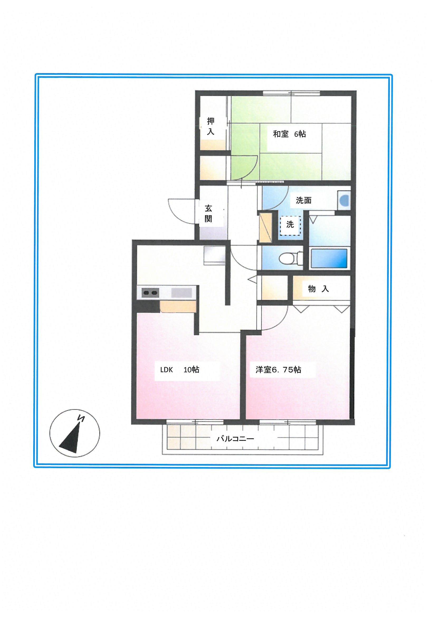 ウエストサイドⅡ 106号室/201号室